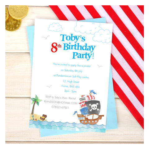 Personalised,Pirate,Party,Invitation,Pack,Personalised Pirate Party Invitation Pack, pirate party, Invitations & Announcements, Invitations, pirate invites, birthday party, pirate invitations, birthday invites, custom invites, invitation pack, custom invitations, kids party invites, childrens par
