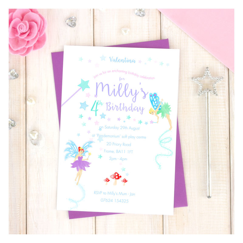 Personalised Fairy Party Invitation Pack - Chi Chi Moi