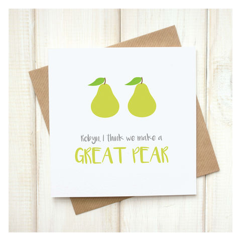 Personalised,A,Great,Pear,Emoji,Card,Personalised A Great Pear Emoji Card