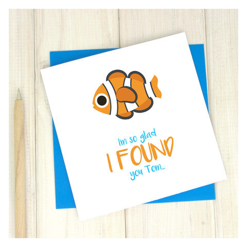 Personalised,Found,You,Nemo,Emoji,Card,Personalised Found You Nemo Emoji Card
