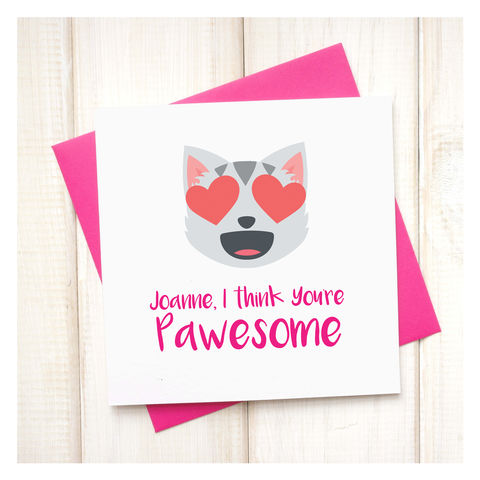 Personalised,You're,Pawesome,Emoji,Card,Personalised You're Pawesome Emoji Card