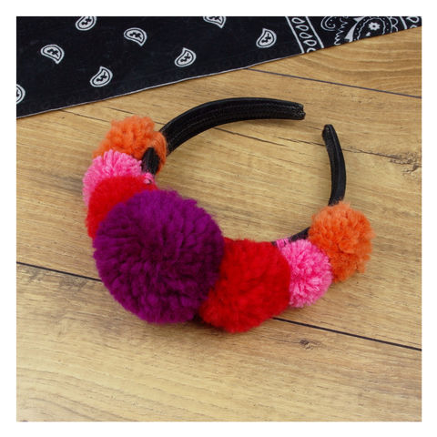 Pom,Alice,Band,Pom Pom Alice Band - Pom Pom - Pom Pom Hair Band -Dress Up