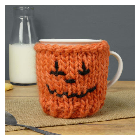 Pumpkin,Knitted,Mug,And,Cosy,Pumpkin Knitted Mug And Cosy