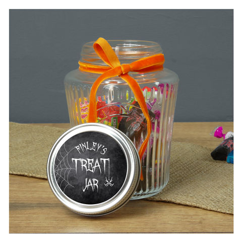 Personalised,Halloween,Treat,Jar,Personalised Halloween Treat Jar