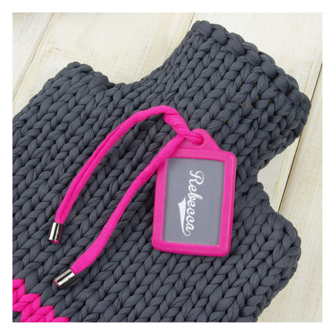 Personalised Sport Hot Water Bottle And Cover - Super Pink - product images  of