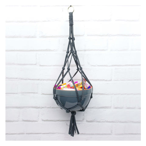 Macrame,Hanging,Treat,Bowl,Macrame Advent Calendar Jar