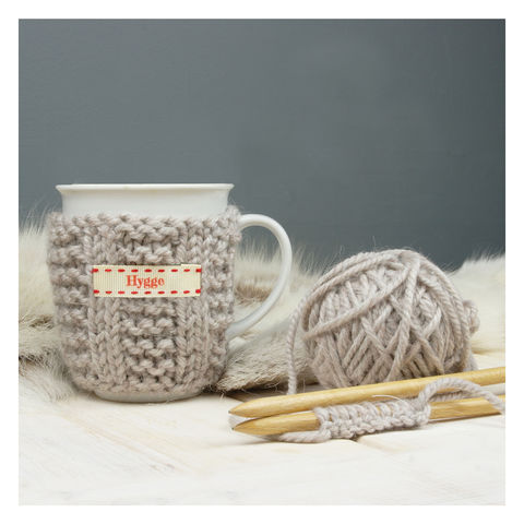 DIY,Mug,Cosy,Hygge,Knitting,Kit,Hygge knitting kit, DIY Mug Cosy, DIY Knitted Cosy and Mug, Hand Knitted Mug Cosy, Personalised Knitted Mug Cosy knitted mug cosy kit, diy knitting kit, mug cosy kit, knitted mug cosy, drink warmer, cup warmer, thermal cup, thermal flask, mug jumper
