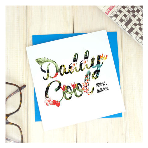 Daddy,Cool,Hawaiian,Fathers,Day,Card,Greetings Card. Fathers Day Card. Card. Personalised card Hawaiian Dad Card - Personalised Card - Super Hero Card - Marvel Card - Comic Book Card - Super Father - Fathers Day Card - Birthday Card