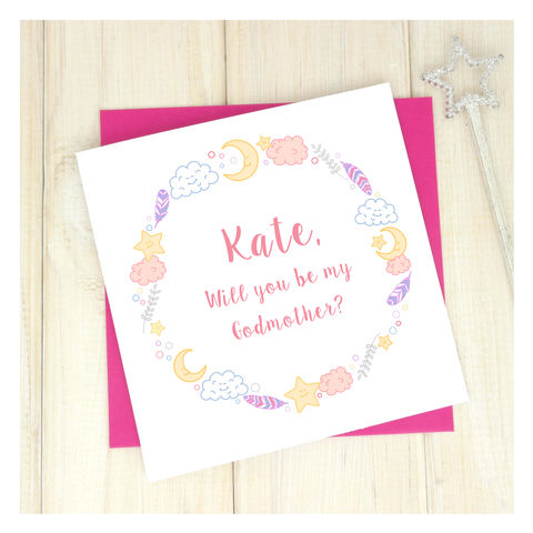 Personalised,Be,My,Godparent,Card,Personalised Be My Godparent - Godparent - Godparent Card - Godparents Card - Godmother - Godfather - Greetings Card