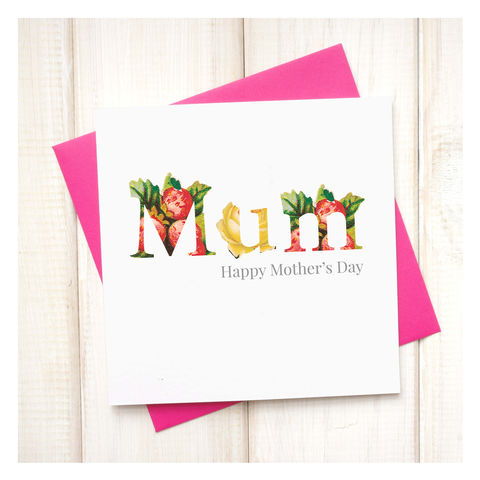 Personalised,Floral,Mothers,Day,Card,Personalised Floral Mothers Day Card - Mothers Day - Mum Card - Mother Card- Mum - Mother - Greetings Card