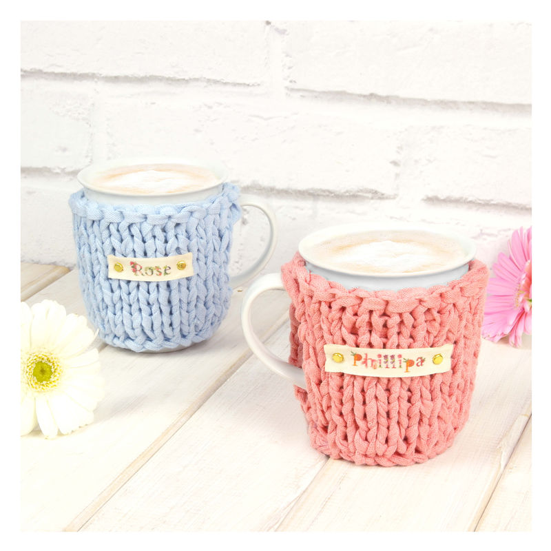 Personalised Pastel Chunky Mug Cosy - Pastel Blue - product images  of
