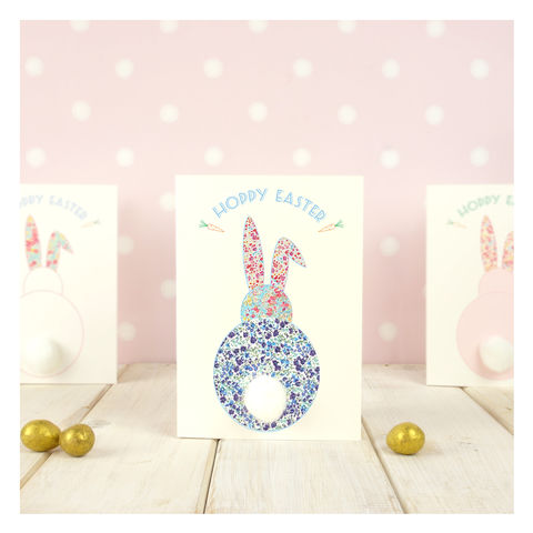 Pom,Easter,Bunny,Card,Bunny Pom Pom Easter Greetings Card - Easter Card -Greetings Card - Bunny Card- Rabbit Card- Easter Greetings Card -Hoppy Easter Card - Happy Easter - Pom Pom Card - Pom Pom Easter Card
