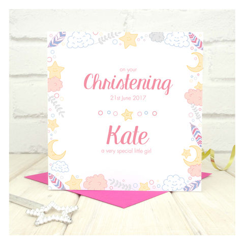 Personalised,Girls,Christening,Card,Personalised Girls Christening Cards - Christening Card - Christening - Christening Ceremony
