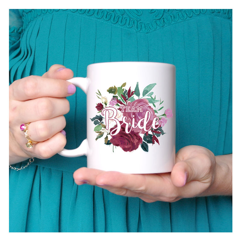 Personalised Floral Bridesmaid Mug - product images  of