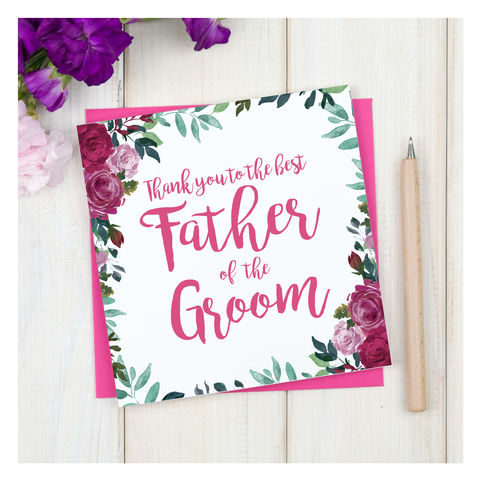 Personalised,Thank,You,Father,Of,The,Groom,Card,Personalised Thank You Father Of The Groom Card - Wedding Card - Father - Thank you- Maid Of Honour -Bridesmaid -Page Boy - Greetings Card - Wedding -Weddings