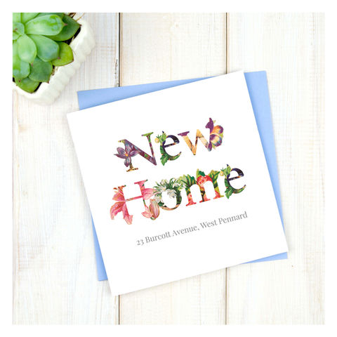 Personalised,Floral,New,Home,Card,Personalised Floral New Home Card - New Home -Home - Celebration - Congratulations New Home -House - First Home