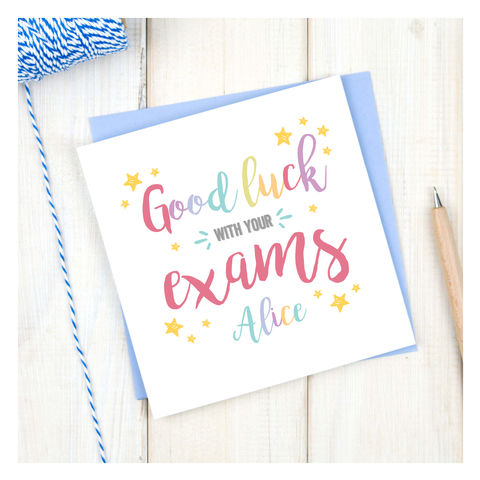 Personalised,Good,Luck,With,Your,Exams,Card,Personalised Good Luck With Your Exams Card - Exams - Good Luck - Student Card - Student - Best of Luck - Exam