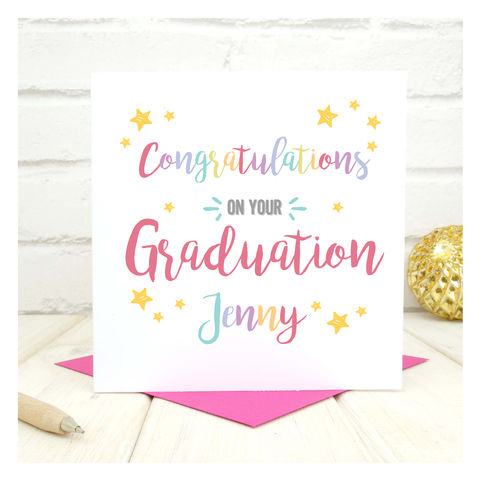 Personalised,Congratulations,On,Your,Graduation,Card,Personalised Congratulations On Your Graduation Card - Graduation- Congratulations - Student Card - Student - Graduate -New Graduate