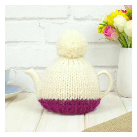 Personalised,Two,Cup,Colour,Block,Tea,Cosy,-,Wine,Personalised Two Cup Colour Block Tea Cosy -Wine - Wine Tea Cosy - Purple Tea Pot - Tea Pot - Tea Pot Cosy - Red and Cream - Tea Cosy