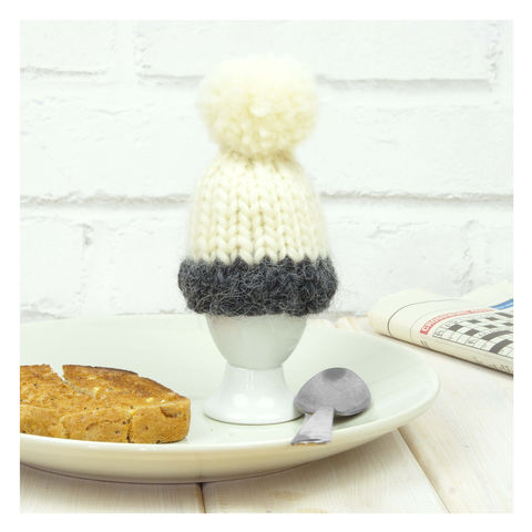 Personalised,Colour,Block,Egg,Cosy,-,Charcoal,Grey,Personalised Colour Block Egg Cosy - Egg - Egg Cosy - Egg Cup - Egg Cup Cosy - Cosy Egg - Eggs -Dippy Eggs -Grey Cosy - Grey Egg Cosy