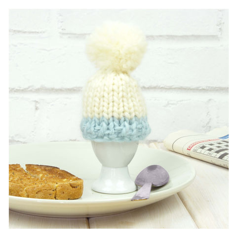 Personalised,Colour,Block,Egg,Cosy,-,Sky,Blue,Personalised Colour Block Egg Cosy - Egg - Egg Cosy - Egg Cup - Egg Cup Cosy - Cosy Egg - Eggs -Dippy Eggs - Blue Cosy - Blue Egg Cosy