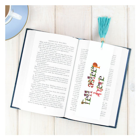 Personalised Floral Bookmark For Her - product images  of