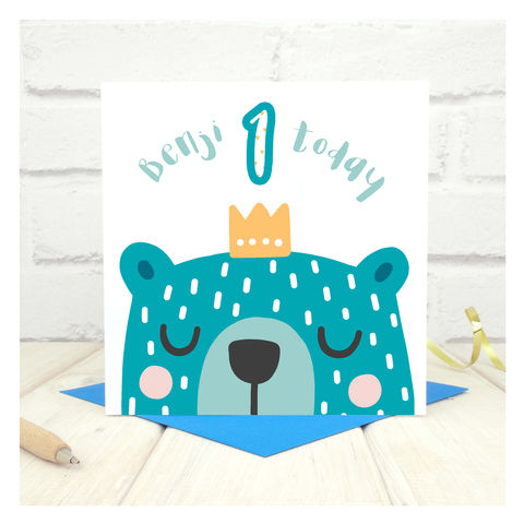 Personalised,'Party,Animal',1st,Birthday,Card,Personalised 'Party Animal' 1st Birthday Card  - 1st Birthday Card - card for kids - Cards for children - Animal birthday card - card for her - birthday card - 2nd  birthday card - 3rd birthday card - 4th birthday card - 5th birthday card - 6th birthday c