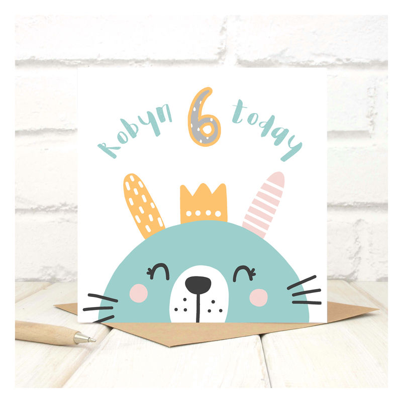 Personalised party animal 6th birthday card chi chi moi bookmarktalkfo Images
