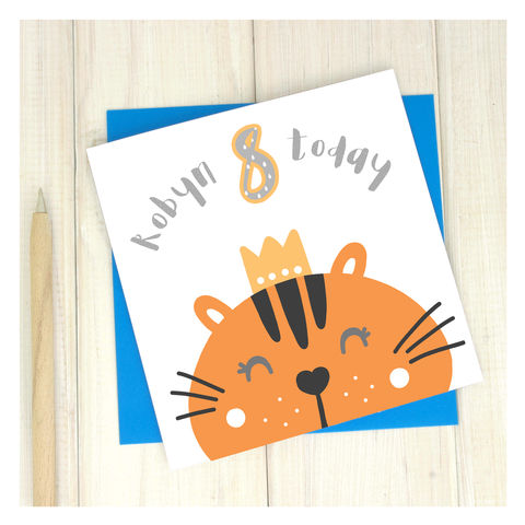 Personalised,'Party,Animal',8th,Birthday,Card,Personalised 'Party Animal' 8th Birthday Card  - card for kids - Cards for children - pet bunny birthday card - 9th birthday card for girls - birthday card - 9th birthday card for sister