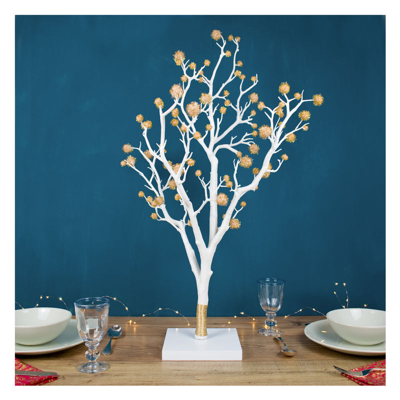 Metallic Pom Pom Christmas Tree - product images  of