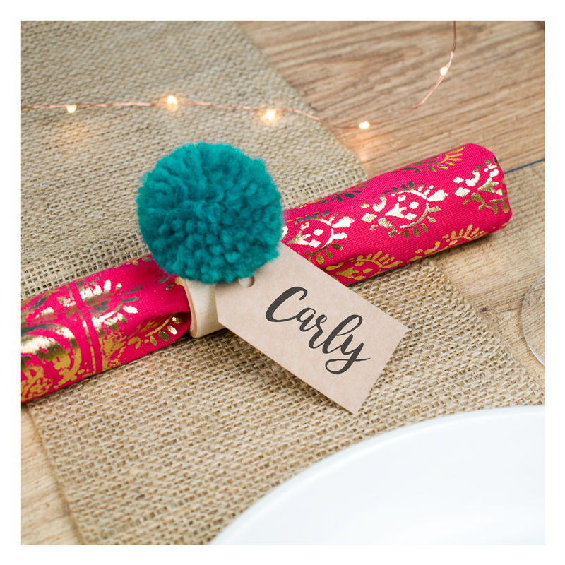 Personalised Pom Pom Napkin Rings - product images  of