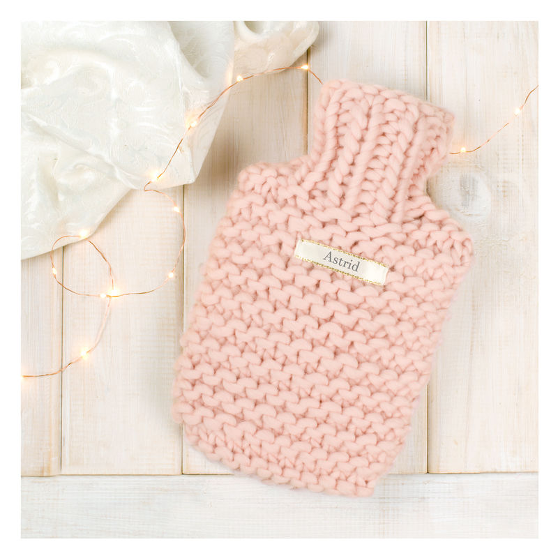 Personalised Super Chunky Knitted Mini Hot Water Bottle - product images  of