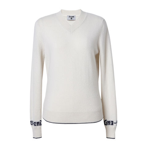 'Le,Week-end',V-neck,Cashmere,Jumper,V-neck Cashmere Jumper, V neck jumper, Cashmere jumper, Ivory jumper, 100% cashmere jumper, London knitwear, knitwear designer, luxury casual brand, jwon, jwon london