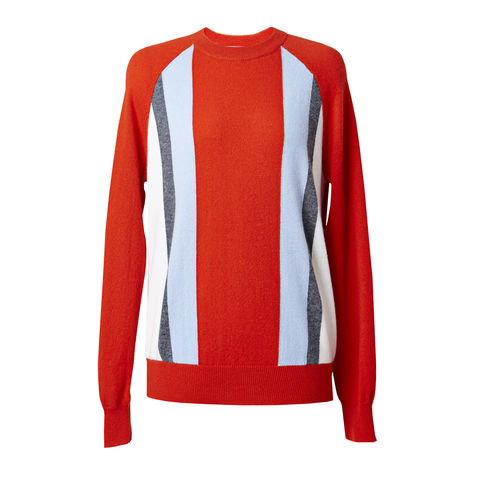 Stripe,Cashmere,Raglan,Jumper,Cashmere Jumper, Raglan Jumper, Red jumper, grey cashmere jumper, striped jumper, London knitwear, knitwear designer, luxury casual brand, jwon, jwon london