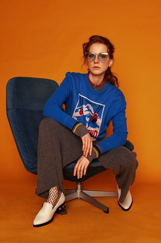 'Le-Weekend',Jumper,Weekend Jumper, Blue Jumper, 100% Merino Wool, Wool Jumper, jwon, jwon london