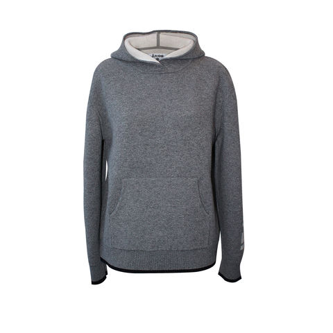 'Le,Week-end',Hood,Jumper,-,Medium,Melange,Grey,Cashmere, Hood, Hoodie, Melange grey, 100% Cashmere, Cashmere hood, London knitwear, knitwear designer, luxury casual brand, jwon, jwon london