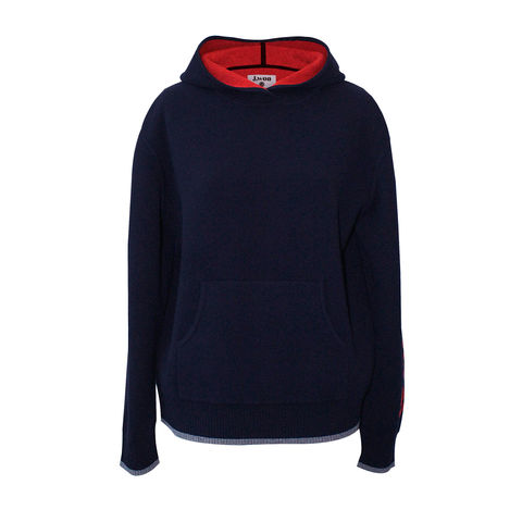 'Le,Week-end',Hood,Jumper,-,Navy,Cashmere, Hood, Hoodie, Navy, 100% Cashmere, Cashmere hood, London knitwear, knitwear designer, luxury casual brand, jwon, jwon london