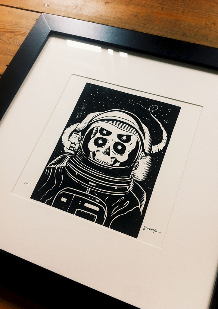 ASTRONAUT - Original relief. Hand Printed - product images  of