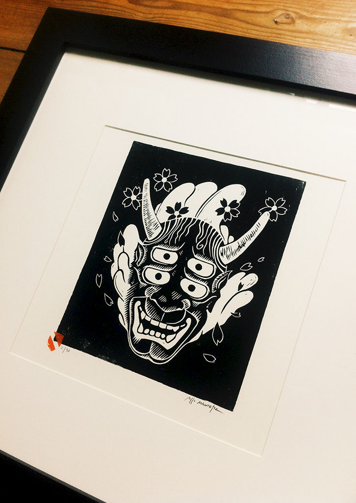 DOUBLE VISION HANNYA - Original relief. Hand Printed - product images  of