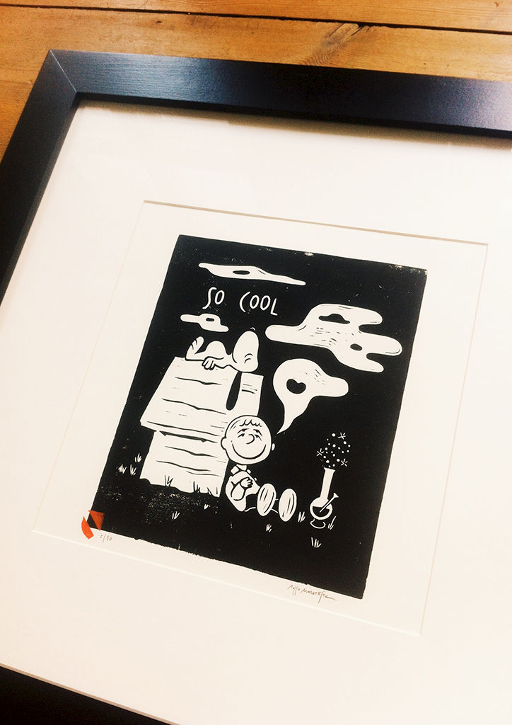 SO COOL - Original relief. Hand Printed - product images  of