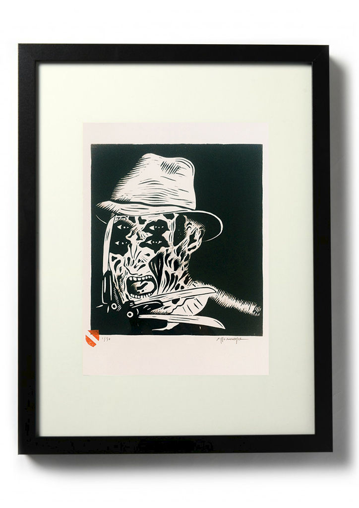 One, Two, Freddy's Coming For You - Original relief. Hand finished, hand printed - product images  of