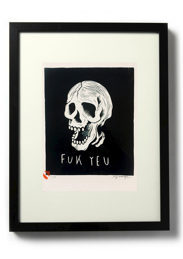 FUK YEU - Original relief. Hand finished, hand printed - product images  of