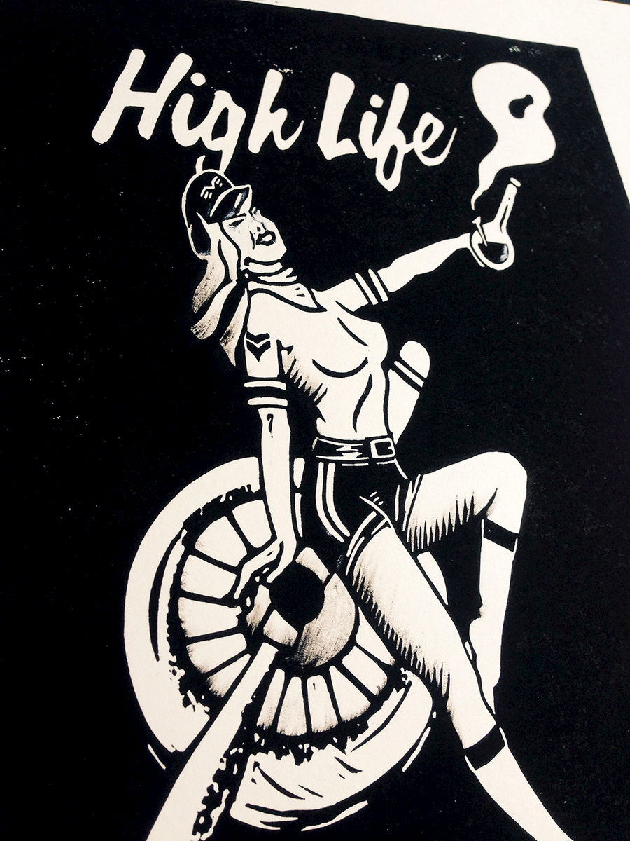HIGH LIFE - Original relief. Hand finished, hand printed - product images  of