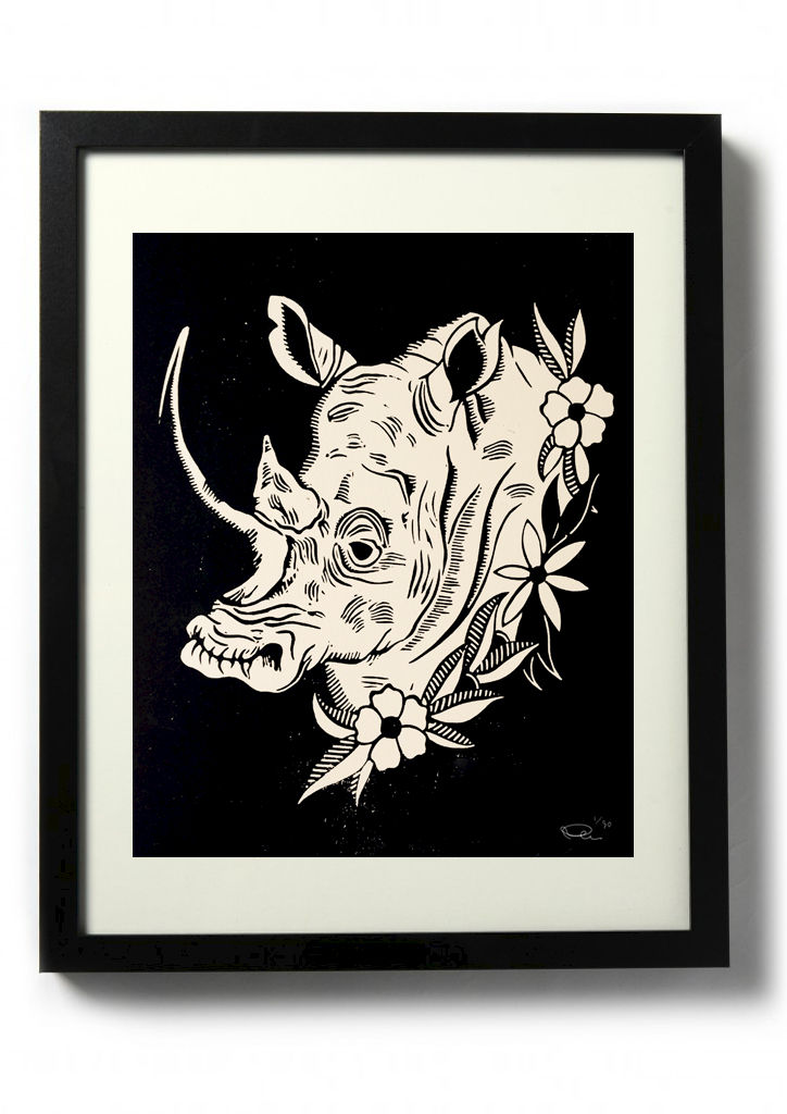 RHINO - Original relief. Hand printed. - product images  of