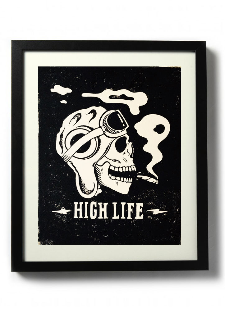 High Life (Death from Above) - Original relief. Hand printed. - product images  of