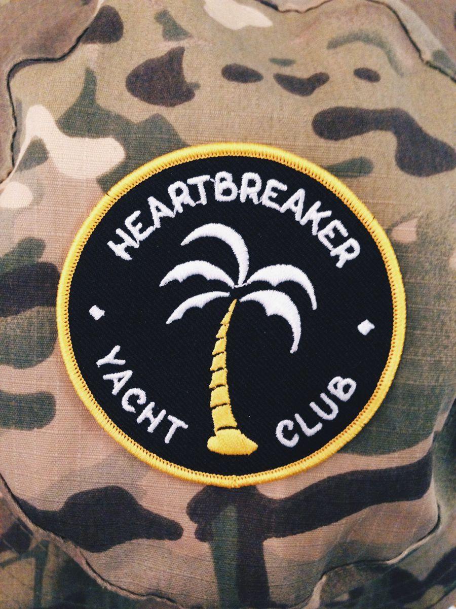 HEARTBREAKER YACHT CLUB  (embroidered patch) - product images  of