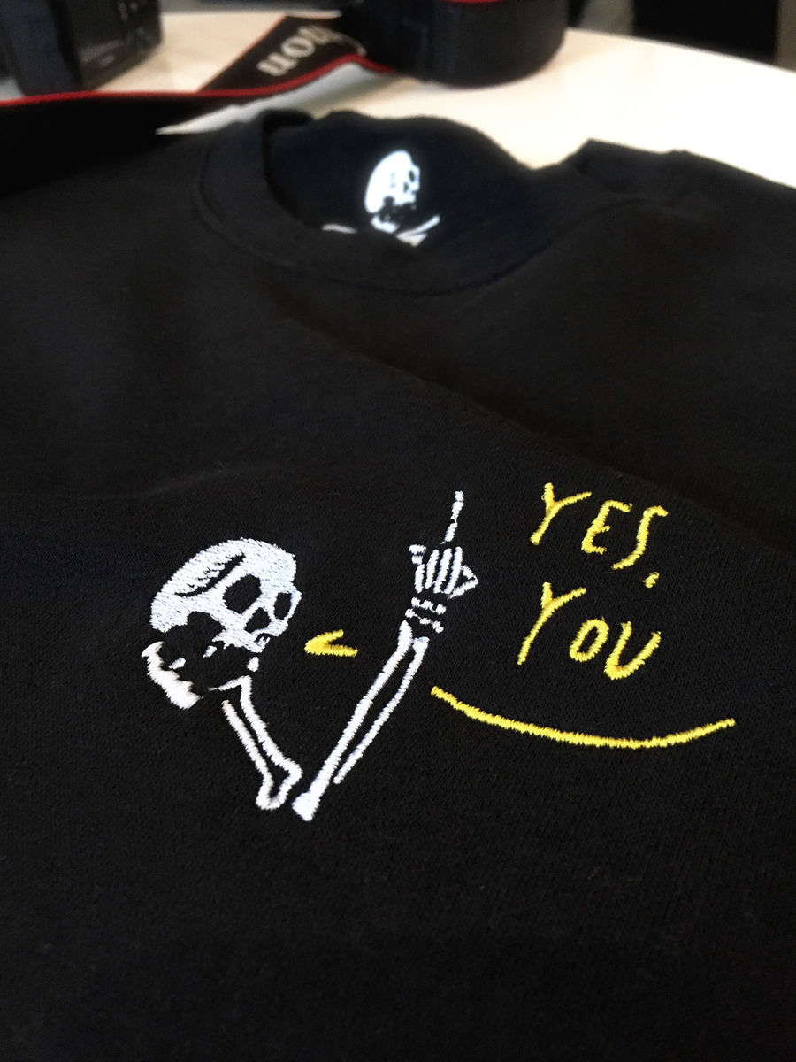 HAVE A NICE DAY Embroidered Crew - product images  of