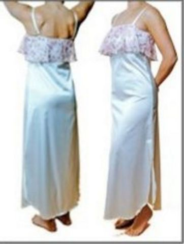 Ivory Satin Mastectomy Night Dress - product images  of