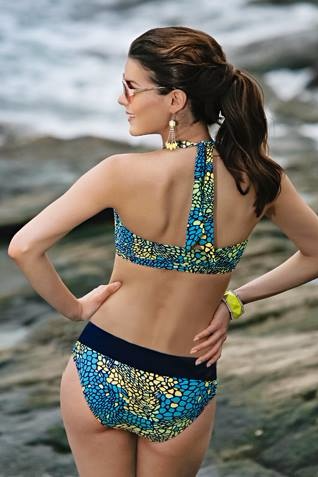 Aqua Yellow Annai Mastectomy Bikini - product images  of