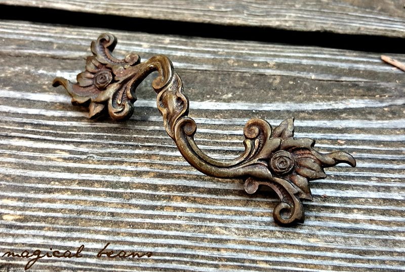 Dark Brass French Country Farmhouse Drawer Pulls Magical